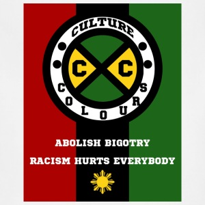 Culture Colours. Abolish Bigotry. Racism hurts - Adjustable Apron