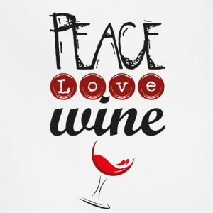 Peace Love Wine - Adjustable Apron