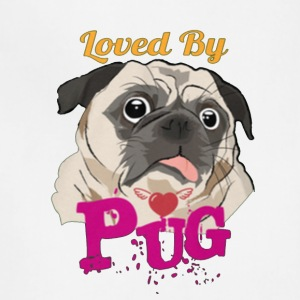 loved by pug - Adjustable Apron