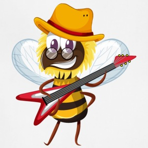 Bee musician insect guitar cartoon wesome vector - Adjustable Apron