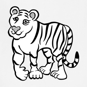 Tiger lineart 2400px - Adjustable Apron
