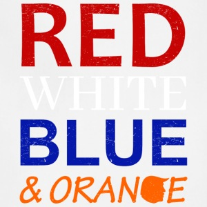 Red White Blue and Orange - Adjustable Apron