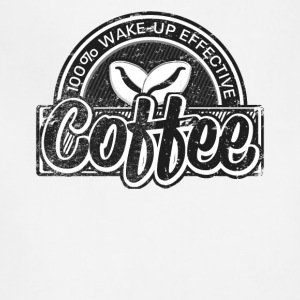Coffee Lovers Distressed Retro Logo Style - Adjustable Apron