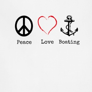 Peace Love and Boating, Funny Boating Gift - Adjustable Apron