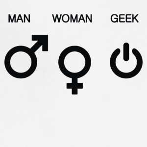 Man Woman Geek Symbols - Adjustable Apron
