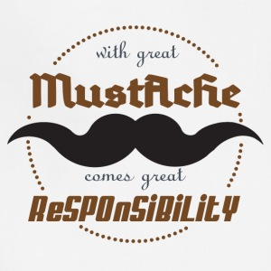 With Great Mustache, Comes Great Responsibility - Adjustable Apron