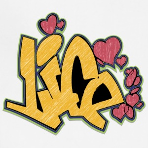 life_graffiti_yellow - Adjustable Apron