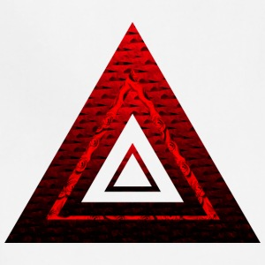 Red Ruby Rose Pyramid - Adjustable Apron