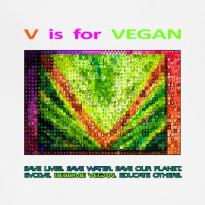 V IS FOR VEGAN. evolve. - Adjustable Apron