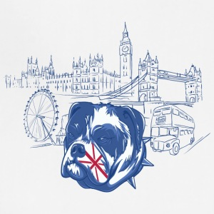 London with dog - Adjustable Apron