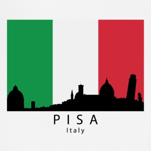 Pisa Italy Skyline Italian Flag - Adjustable Apron