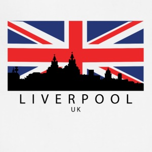 Liverpool England UK Skyline British Flag - Adjustable Apron