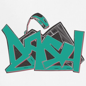 asa_graffiti_hand_drawn_blue - Adjustable Apron