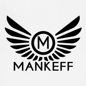 Mankeff Black Logo With Name - Adjustable Apron