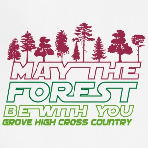 MAY THE FOREST BE WITH YOU GROVE HIGH CROSS COUNTR - Adjustable Apron
