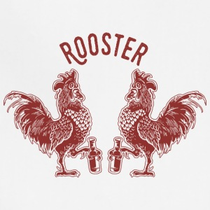 Roosters bird inscription emblem beer - Adjustable Apron