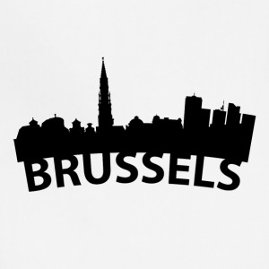 Arc Skyline Of Brussels Belgium - Adjustable Apron