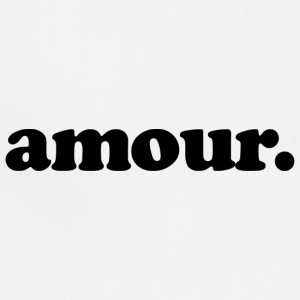 Amour - Fun Design (Black Letters) - Adjustable Apron