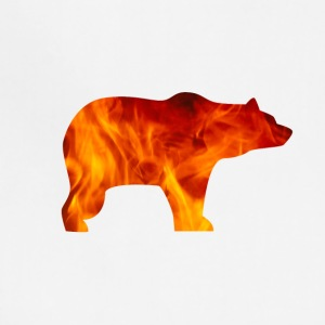 bear burning - Adjustable Apron