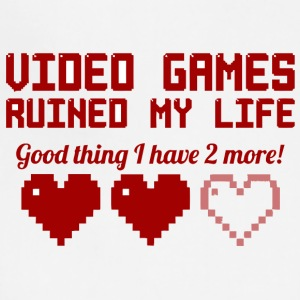 Video Games Ruined My Life vectorized - Adjustable Apron