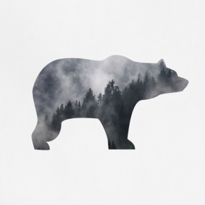 bear in smoky forest - Adjustable Apron