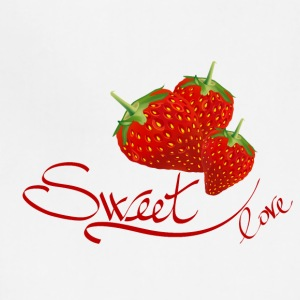 fruit sweet love strawberry - Adjustable Apron