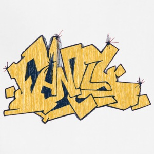fancy_graffiti_yellow - Adjustable Apron
