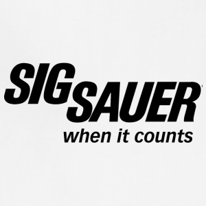 sig sauer when it counts logo - Adjustable Apron