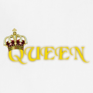 GOLD QUEEN CROWN GEMS AND DIAMONDS - Adjustable Apron