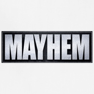 Mayhem Black & Silver - Adjustable Apron