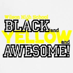 Wilson High School Black And Yellow And Awesome - Adjustable Apron