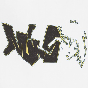 miss_graffiti_yellow_black - Adjustable Apron