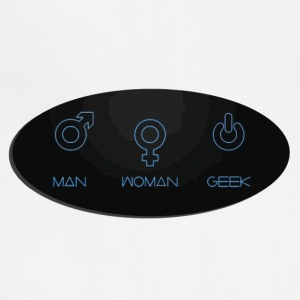 Man woman geek genders - Adjustable Apron