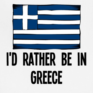 I'd Rather Be In Greece - Adjustable Apron