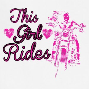 BIKER GIRL -Women on motorcycle in pink - Adjustable Apron