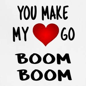 you make my heart go boom boom - Adjustable Apron
