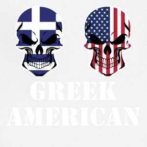 Greek American Flag Skulls - Adjustable Apron