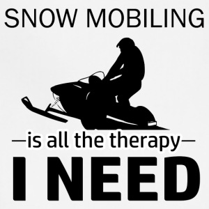 Snow Mobiling is my therapy - Adjustable Apron