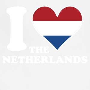 I Love the Netherlands Dutch Flag Heart - Adjustable Apron