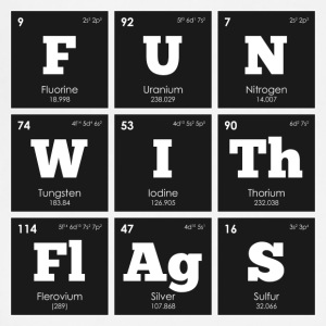 Periodic Elements: Sheldon's FUN WITh FlAgS - Adjustable Apron