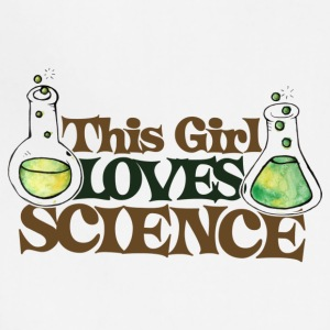This girl loves science, women love science - Adjustable Apron