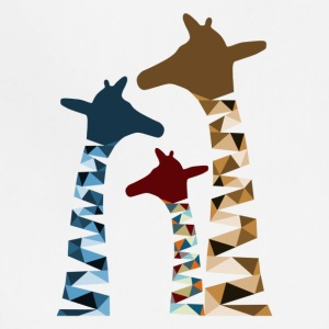 Abstract Colored Giraffe Family - Adjustable Apron