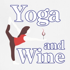 yoga and wine - Adjustable Apron