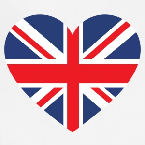 British Flag Love Heart Patriotic Pride Symbol - Adjustable Apron