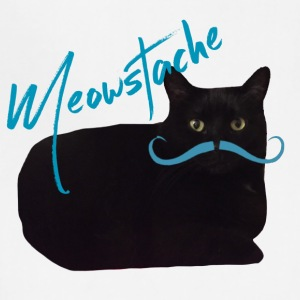 Black Cat Blue Mustache - Adjustable Apron
