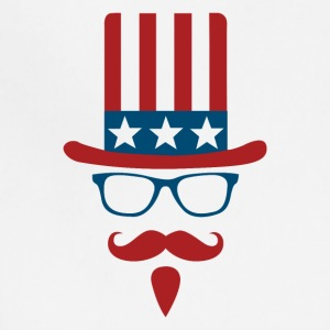 Uncle sam glasses and mustache - Adjustable Apron