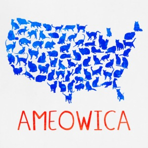 Ameowica I pledge allegiance to the United Cats - Adjustable Apron