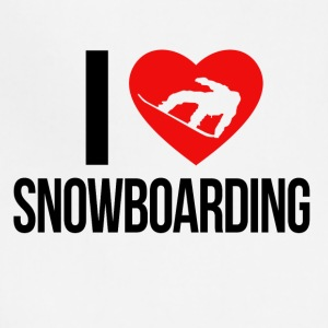 I LOVE SNOWBOARDING - Adjustable Apron