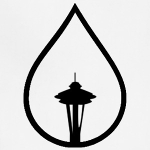 Seattle Space Needle Rain Drop - Adjustable Apron
