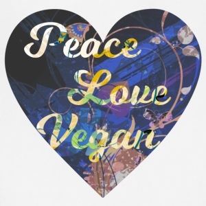 Vegan - Peace, Love, Vegan - Adjustable Apron